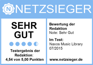 Netzersieger Naxos Music Library