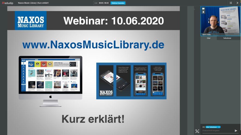 Naxos Online Libraries Webinare | Für Neueinsteiger und erfahrene Nutzer