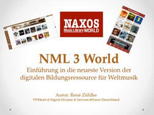 NML 3 World Übersicht